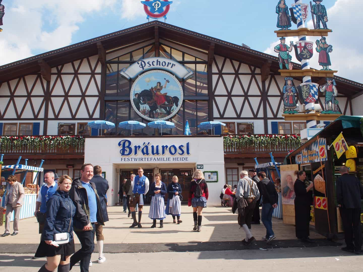Braurosl beer tent at Munich Oktoberfest
