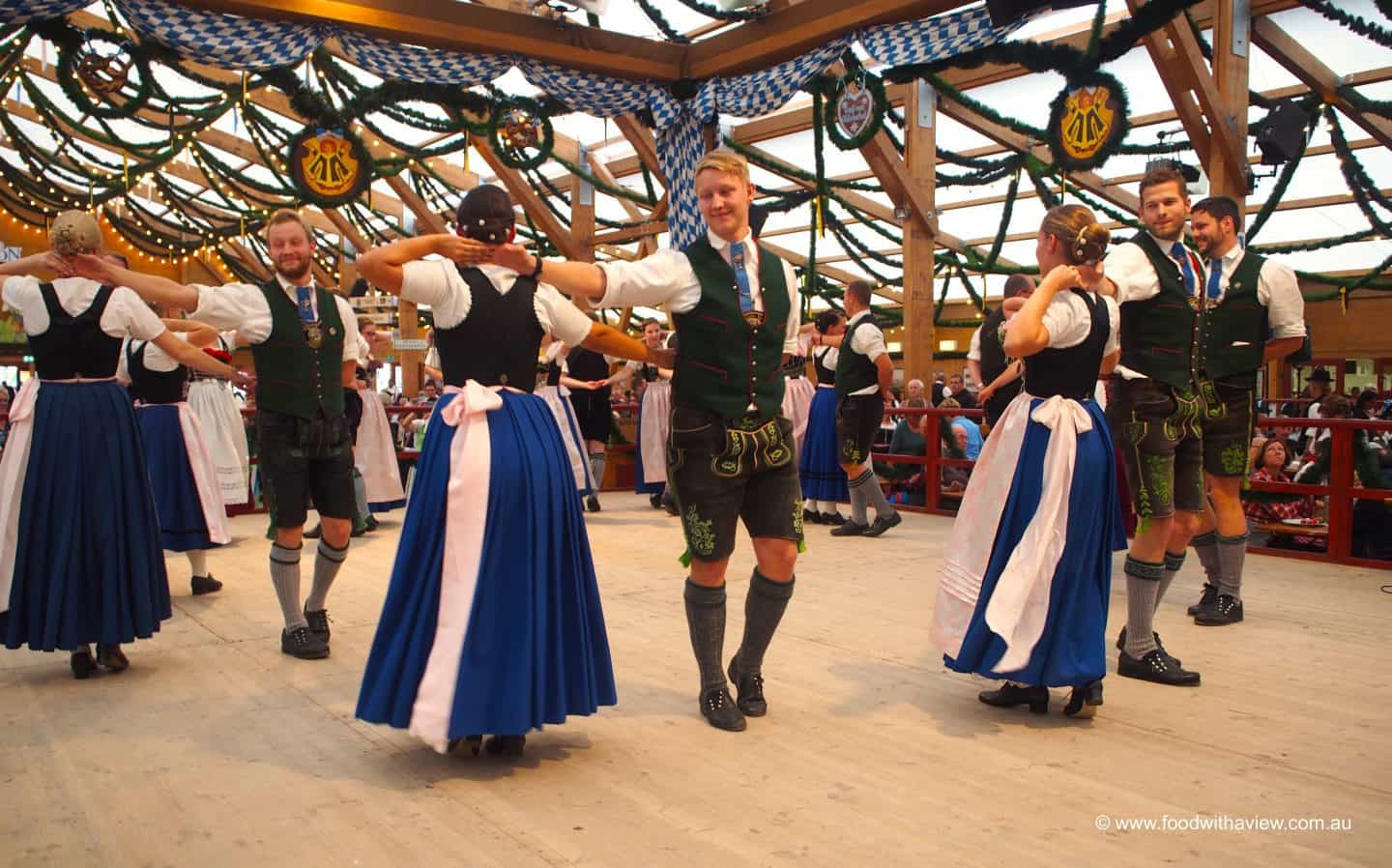 Bavarian dancing traditional